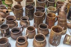 土气瓦器手工 陶瓷 库存照片