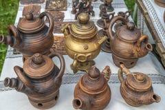 土气瓦器手工 陶瓷 免版税库存照片