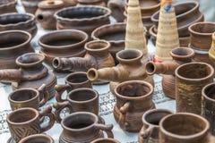 土气瓦器手工 陶瓷 免版税库存图片