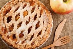 土气的苹果饼 库存照片