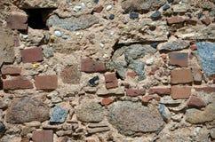 土气石头和黏土大厦墙壁 库存照片