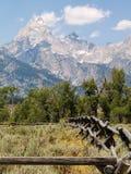 Teton土气篱芭 库存照片