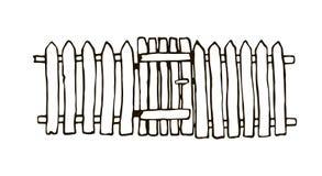 土气篱芭由木头制成 免版税库存图片