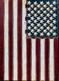 土气美国国旗垂直 库存照片