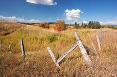 土气美好的秋天范围的横向 免版税图库摄影