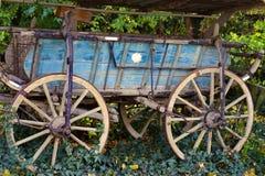 土气老用马拉的无盖货车 免版税图库摄影