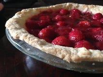 土气草莓饼 库存图片