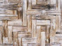 土气被编织的地板表面特写镜头照片 柳条木背景 免版税库存图片