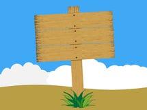 土气被风化的木标志(传染媒介) 向量例证