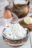 土气酸奶干酪 免版税图库摄影