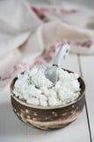 土气酸奶干酪 免版税库存图片