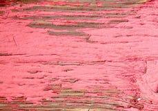 土气年迈的脏的概略的木委员会老木与红色油漆 库存图片