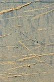 土爆炸在金属片的 免版税库存照片