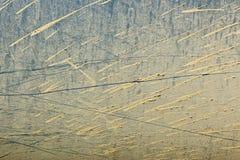 土爆炸在金属背景的 库存图片