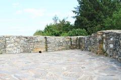 土牢上面在城堡捷克施滕贝格的 免版税库存照片
