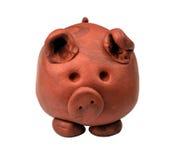 黏土猪 库存图片