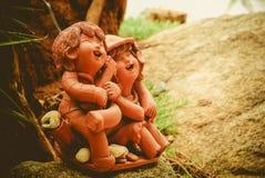 黏土玩偶 免版税库存照片