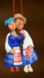 黏土男人和妇女形象 库存照片