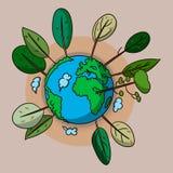 绿土的传染媒介例证 免版税库存图片