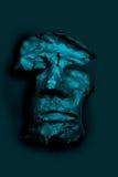 黏土的面孔 库存图片