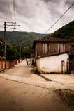 土耳其乡下村庄在风暴日 免版税库存图片
