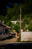 土耳其乡下的村庄 免版税库存照片