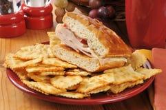 土耳其乳酪三明治 免版税库存照片