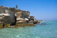 土耳其人的海湾,意大利 库存图片