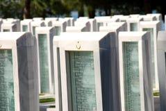 土耳其军事公墓 库存图片