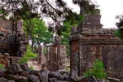 土耳其古老的废墟 免版税库存图片