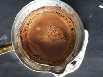 土耳其咖啡和欢欣 库存图片