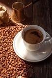 土耳其咖啡在早晨 免版税库存照片