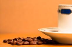 土耳其咖啡杯子和种子 免版税库存图片