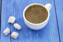 土耳其咖啡以欢欣 库存图片