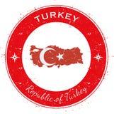 土耳其圆爱国徽章 免版税图库摄影