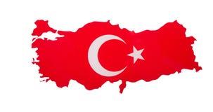 土耳其地图,隔绝在白色 免版税库存图片