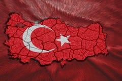 土耳其地图 库存例证