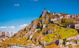 土耳其城堡在安卡拉 免版税图库摄影