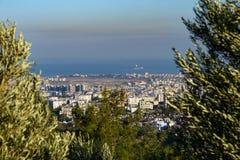 土耳其城市看法从小山的 免版税库存照片