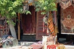 土耳其安纳托利亚古老的地毯 库存照片