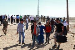 土耳其对叙利亚人开放了它的边界 库存照片