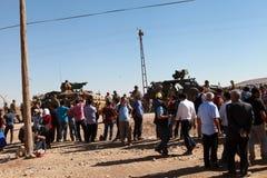 土耳其对叙利亚人开放了它的边界 免版税图库摄影