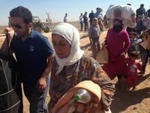 土耳其对叙利亚人开放了它的边界 免版税库存图片