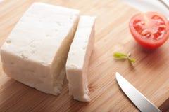 土耳其希腊白软干酪 库存图片