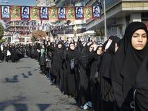 土耳其希雅的女孩在阿修罗游行参与 库存照片