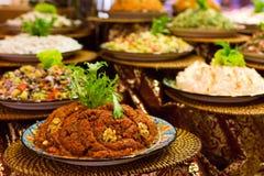 土耳其开胃菜和沙拉品种  免版税库存照片