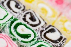 土耳其快乐糖。Lokum 库存照片