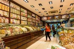 土耳其快乐糖商店 免版税库存照片