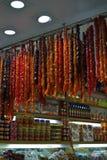 土耳其快乐糖在伊斯坦布尔义卖市场 免版税图库摄影