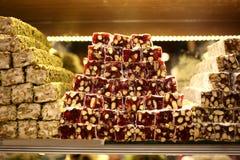 土耳其快乐糖 图库摄影